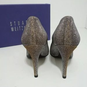 Stuart Weitzman Shoes - 🆕Stuart Weitzman Pointed Toe heel Pump Shiny Gray